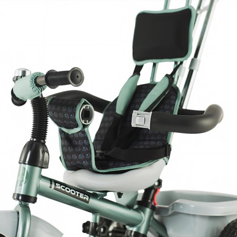 Tricicleta multifunctionala DHS Scooter Plus  verde