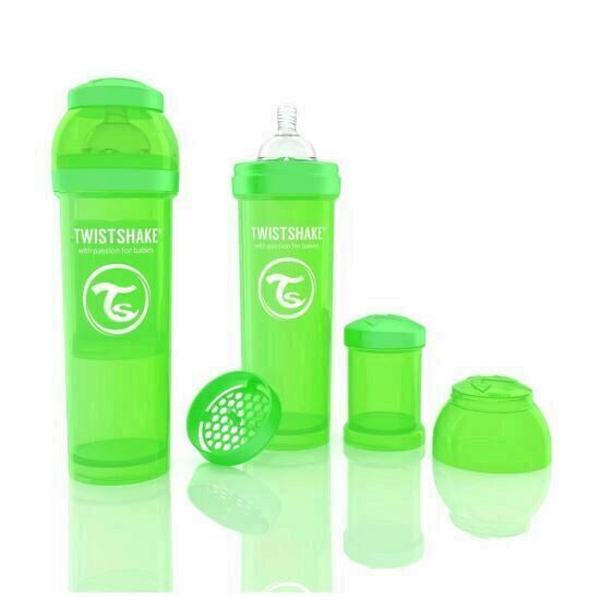 Biberon Twistshake Anti - Colici 330 ml Verde