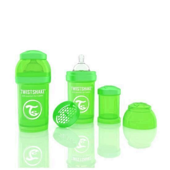 Biberon Twistshake Anti - Colici 180 ml Verde