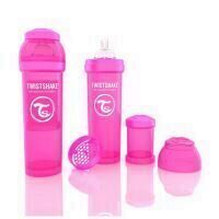 Biberon Twistshake Anti - Colici 330 ml Roz
