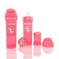 Biberon Twistshake Anti - Colici 330 ml Piersica
