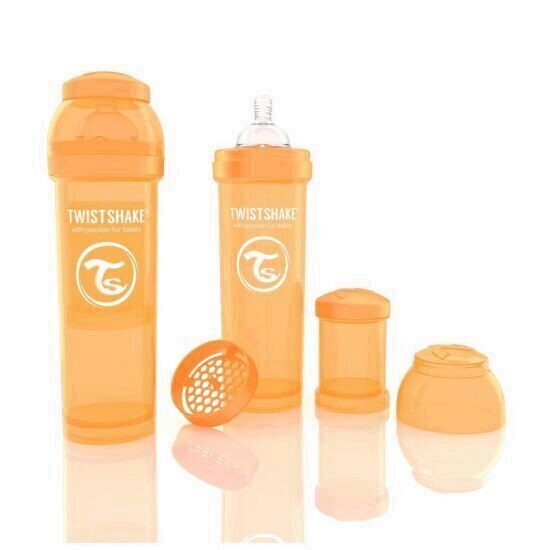 Biberon Twistshake Anti - Colici 330 ml Portocaliu