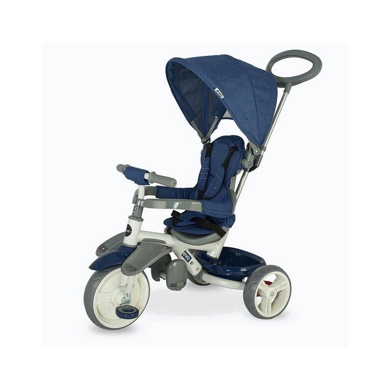 Tricicleta pentru copii COCCOLLE Evo albastru